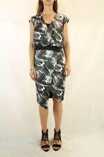 COUNTRY ROAD Black White Print Dress Size 8