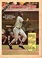 The Sporting News 7/7/1973 Baseball magazine, Bobby Bonds, San Francisco Giants