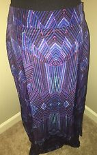 Women's Mossimo Maxi Skirt Multi Color Tribal Medium NWOT
