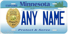 Minnesota Police Officer Any Name Number Novelty Car License Plate