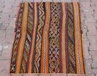 "Cappadocia Flatweave Ethnic Kilim Rug Turkish Vintage Traditional Carpet 31""x41"""