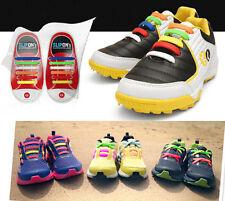 ORIGINALE coolnice ® elastico silicone EDITORI Lacci delle Scarpe Da Ginnastica-Bambini Rainbow 6+6