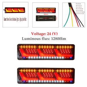 1 Pair LED Truck Tail Light Brake Running Turn Signal Reverse Indicator Lamp Set