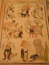 Le Langage des Fleurs Humour Print 1897