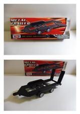 Lot 2 Remorque Plateau en Métal 1/43 MOTOR MAX Produit NEUF Boite d'origine !