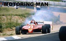 GILLES VILLENEUVE FERRARI PHOTOGRAPHS SEVEN PHOTOGRAPH SET F1 MOTORING-MAN 312
