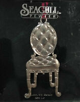 SEAGULL Pewter Chair Christmas Holiday Ornament Vintage 1996 NEW