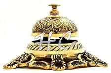 Tischglocke Messing Hotelglocke Rezeptionsglocke Portier Glocke Brass Desk Bell