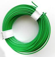 10 m Litze/Kabel GRÜN z.B. für Märklin Spur H0 Modellbahn oder N, TT etc.