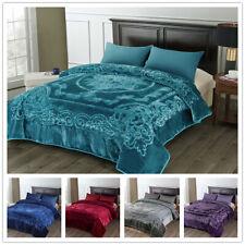 "King Luxury Heavy Thick Plush Mink Blanket Fuzzy Soft Winter Warm 85"" x 95"""
