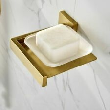 Wall Mount Brushed Gold Stainless Steel Bathroom Toilet Shower Soap Dish Holder