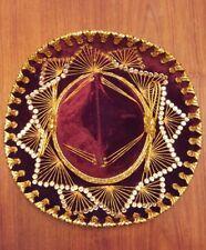 Authentic Salazar Yepez Fancy Velvet Hispanic Sombrero Mexican Youth Hat Fiesta