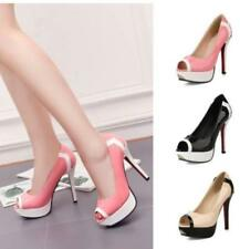 Womens Peep Toe Sweet Multi Color Peep Toe 35-43 Sexy Pump High heel Shoes