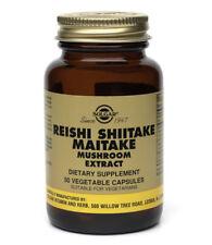 Solgar Reishi Shiitake Maitake Mushroom Extract Vegetable Capsules 50ct