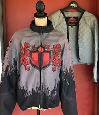 Icon Moto Red Battle Cry Hooligan Mesh Racing/Riding Motorcycle Jacket Size M
