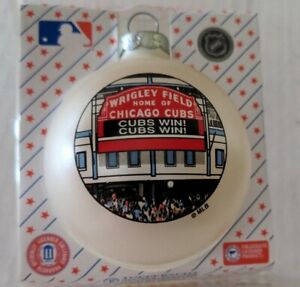 Chicago Cubs Wrigley Field glass Christmas Ornament Cubs Win