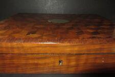 ANCIENNE BOITE A  JEUX EN MARQUETERIE XIX EME ANTIQUE GAMING BOX