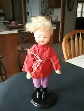 Vintage Celluloid Face Doll 12in tall