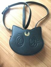 Luna Sholder Bag GU UNIQLO 2nd Line Sailor Moon Japan Limited Black L/M
