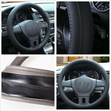Car Black PU Leather 38cm/15'' Comfortable Steering Wheel Cover For All Seasons