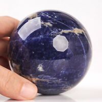 571g 75mm Large Natural Blue Sodalite Quartz Crystal Sphere Healing Ball Chakra