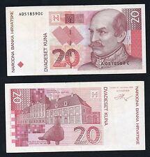 20 kuna Croatia Hrvatske 1993 BB+/VF+  §