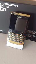 BlackBerry Porsche Design P9981 24k Plaqué or, VIP, complet boite, carte de l'authenticité!