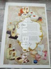 1937 Yardley Beauty toiletries perfumes compact powder, Booths Dry Gin Advert