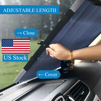 US Car Retractable Windshield Sun Shade Curtain UV Protection Visor Block Cover