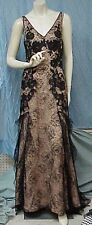 LIANCARLO Couture designer long silk/lace evening gown/prom dress, sz. 8