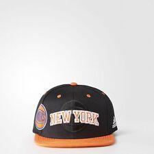 New York Knicks Adidas Baloncesto NBA Snapback Sombrero Negro-Nuevo con etiquetas-Calidad
