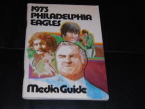 1973 PHILADELPHIA EAGLES NFL FOOTBALL MEDIA GUIDE PROGRAM  NR MINT