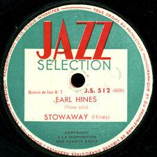 EARL HINES -PIANO-  Stowaway / Chimes in Blues    Schellackplatte 78rpm  X3306