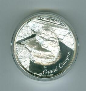 AMERICAN LANDMARKS THE GRAND CANYON ULTRA HIGH RELIEF 2 OZ .999 SILVER ROUND BU