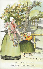 HOLLAND - Vrouwtje - Axel - 1905 Original Postcard (GRN)