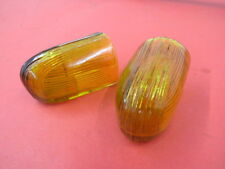 1941 Ford amber colored parking lamp lenses PAIR 11A-13082-AMB