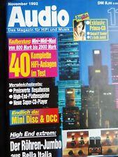 AUDIO 11/92,MARANTZ CD 11,PIONEER PD 95,T + A PULSAR CD 2000 AC,YAMAHA GT CD 1