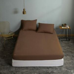 Solid Color Home Fitted Sheet 150 Double Single Bed Sheets Adult Bedsheet Modern