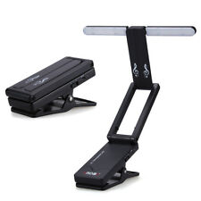 10LED USB Collapsible Clip on Piano Music Stand Book Light Reading Lamp Foldable