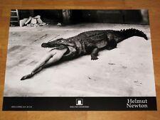 "HELMUT NEWTON POSTER PLAKAT "" CROCODILE EATING BALLERINA "" 1994 ITALY EXHIBITION"