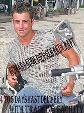 Aluminium Chain Mail Shirt, Medieval Butted Aluminum Chainmail Haubergeon Armor