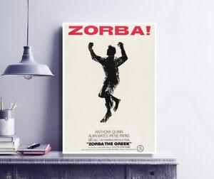ZORBA THE GREEK (1964) - Vintage Movie Poster print / Anthony Quinn / Greece