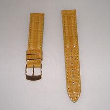 Cinturino pelle stampa coccodrillo colore chestnut ansa 19 fibbia dorata b161