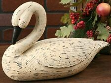 New Large White GOOSE BENT NECK Duck Swan Decoy Country Primitive Figurine Resin