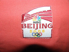 New NBC Official Logo 2008 Beijing Summer Olympics Polo Shirt Size L (NWT)