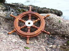 Ships wheel 315 mm across Made from wood & brass- Marine maritime Nautical Gift