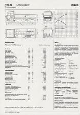 IVECO TURBOSTAR 190-42 1984 SPECIFICATION TECHNISCHE DATEN BROCHURE PROSPEKT