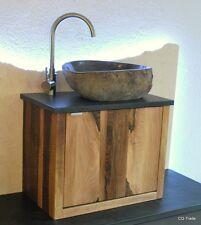 WASCHTISCH DESIGN LUXUS GRANIT FLUßSTEIN FINDLING WASCHBECKEN BAD WC NUSS MASSIV