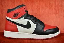 WORN TWICE Air Jordan 1 Retro High OG BG Bred Toe Size 6.5Y Black 575441-610