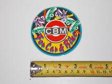 """1980's Cbm """" für Auto und Fahrrad """" Aufkleber Mark Emblem 3 """" 1/2"""